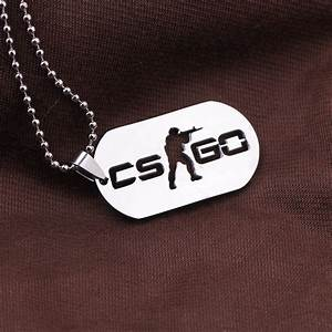 games cs go stainless steel link necklace for men csgo With bijoux homme