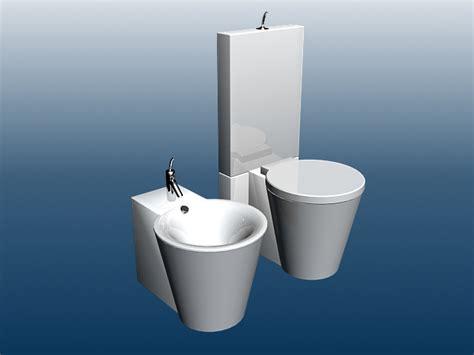 modern toilet  bidet  model dsmax files