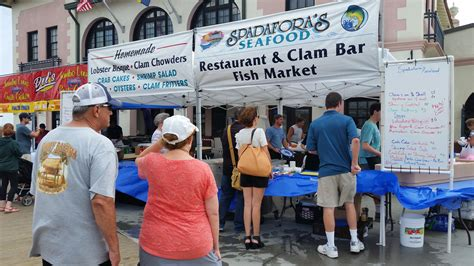 ocean city seafood festival reels  hungry crowds ocnj