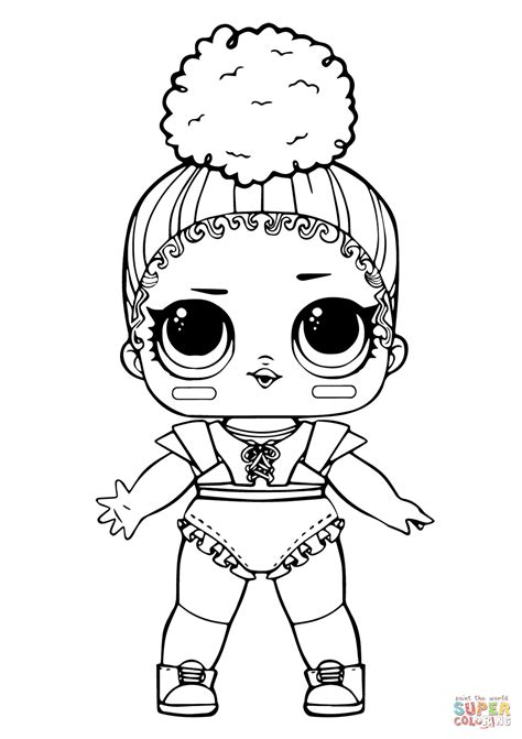 lol doll touchdown coloring page  printable coloring pages