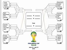 Brazil 2014 Groups Bracket Template