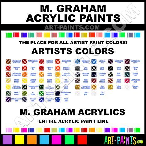 m graham artists acrylic paint colors m graham artists paint colors artists color artists