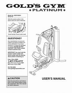 Gold U0026 39 S Gym Platinum Ggsy3058 0 User Manual