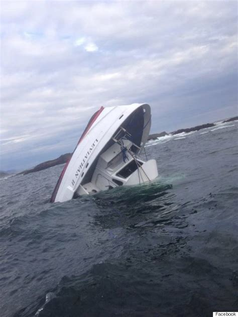 The Boat Capsized by Canadian Whale Boat Sinks Vancouver Island