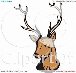 Royalty-Free (RF) Clip Art Illustration of a Reindeer Head ...