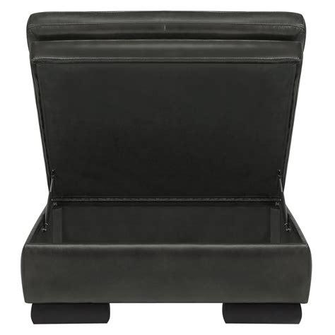 gray leather storage city furniture trevor dark gray leather storage ottoman