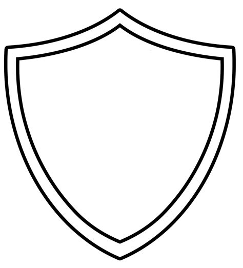 Shield Template Shield Template Clipart Best
