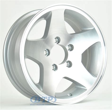 Boat Trailer Wheels Aluminum by Aluminum Boat Trailer Wheel 15 Inch 5 5 Lug 5 On 4 1 2