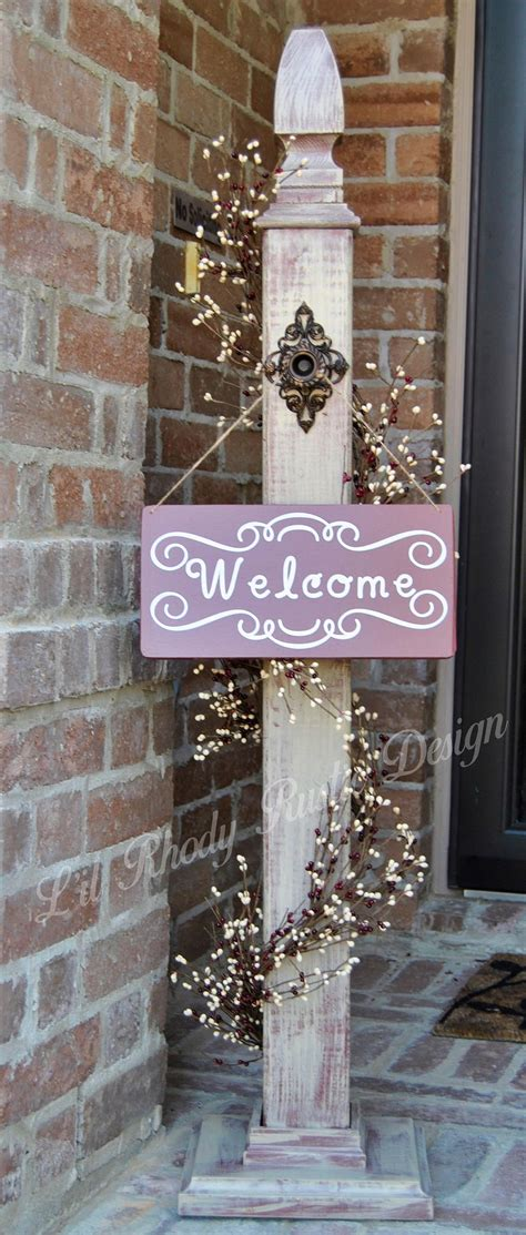 Decorative L Posts - decorative welcome sign porch post