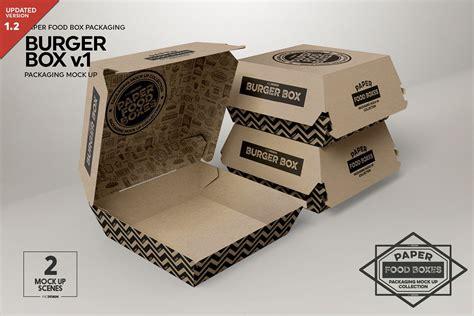 burger box mock up template burger box packaging mock up v1 by incd design bundles