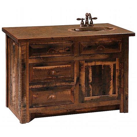 rustic bathroom vanities rustic aspen log bathroom vanity 48 inch reclaimed