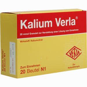 kalium verla granulat informationen und inhaltsstoffe