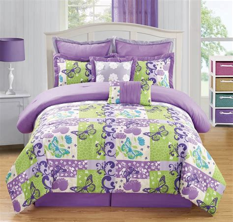 purple and green quilt green and purple bedding sets