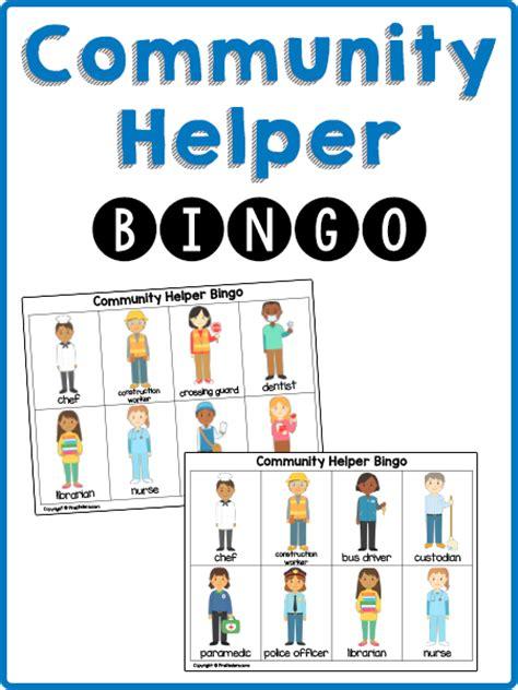 community helpers preschool lesson plans community helpers bingo cards prekinders 587