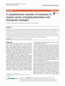 (PDF) A comprehensive overview of exosomes in ovarian ...