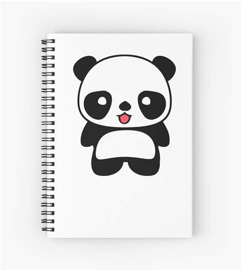 cuadernos de espiral 171 kawaii panda camiseta 187 de bitsnbobs redbubble