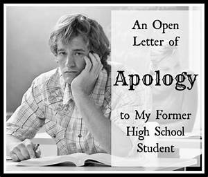 An Open Letter of Apology to My Former High School Student