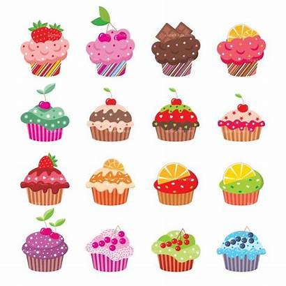 Cupcake Cupcakes Clipart Clip Cartoon Cakes Cup