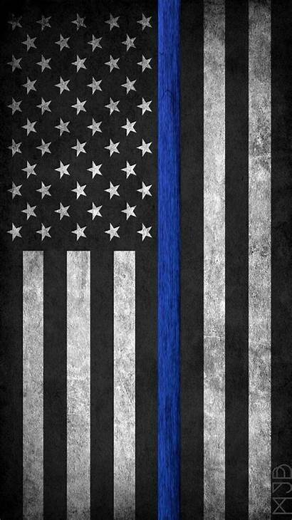 Flag Thin Line American Wallpapers Police Flags