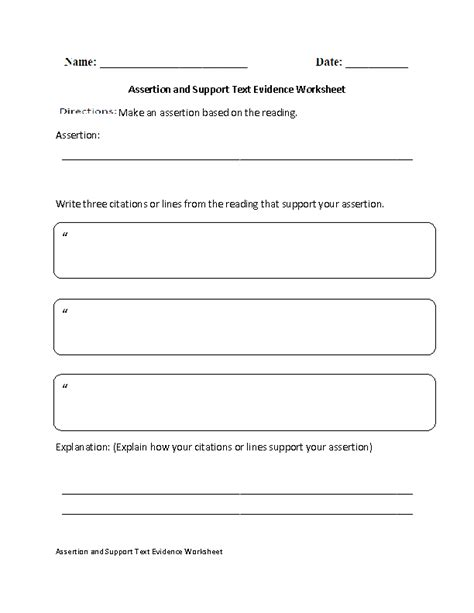 Englishlinxcom  Text Evidence Worksheets