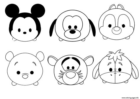 tsum tsum disney colouring pages coloring pages printable