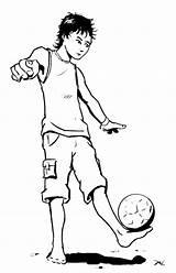 Coloring Juggling Pages Ball Soccer Cartoon Drawing Kidsboys Getcolorings Getdrawings sketch template