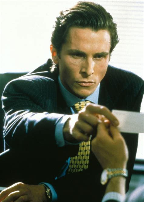 American Psycho Business Card Scene Men Fashion Blog