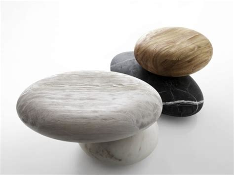 Unique Pave Stone Seating From Marble And Larch   DigsDigs