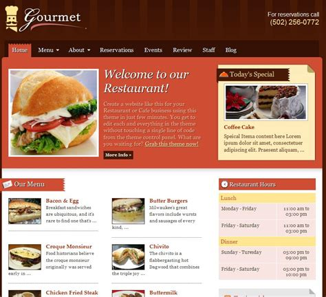 Wp Restaurant Themes Best Restaurant Themes Dobeweb