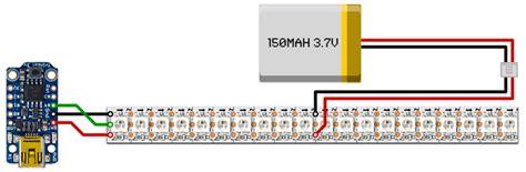 Battery Powered Led Light Strip by Wiring Amp Soldering Larson Scanner Shades Trinket
