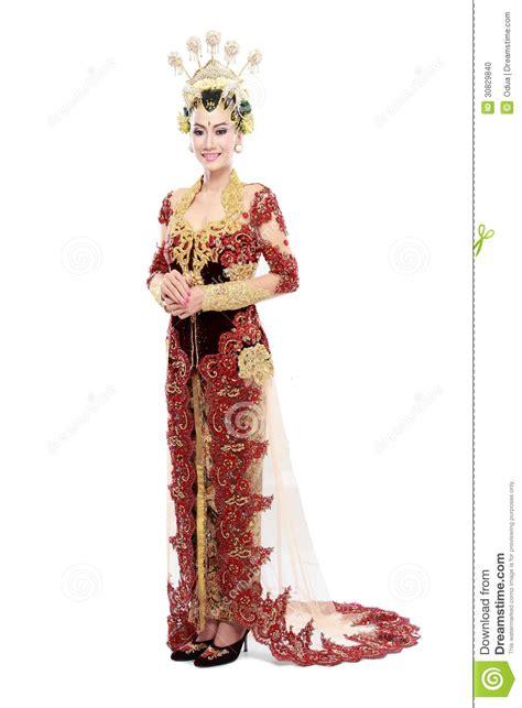 woman traditional wedding dress  java stock photo