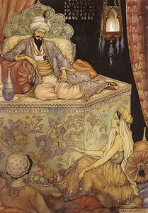 Shahrazad, the daughter of the grand vizier, tells her ...
