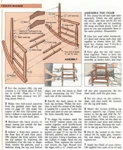 1324 childs rocking chair plans woodarchivist