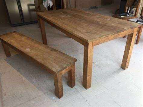 ethnicraft solid teak dining table  bench