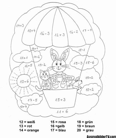 Mathe kreuzworträtsel klasse 5 arbeitsblätter mit. ausmalbilder klasse 1   Alphabet für vorschulkinder, Malen nach zahlen kinder, Erste klasse