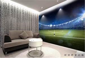 3d room wallpaper custom mural Hd giant football field ...