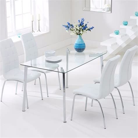 Munich Rectangular Glass Dining Set  Glass Dining Sets Fads