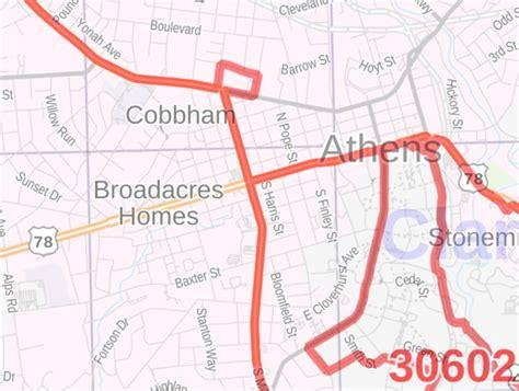 Athens Ga Zip Code Map