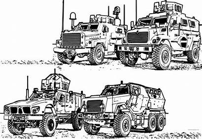 Coloring Pages Army Military Vehicles Vehicle Jeep
