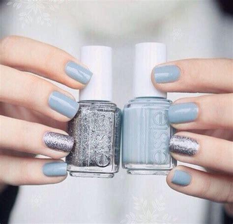 essie light blue nail prom pll silver light blue