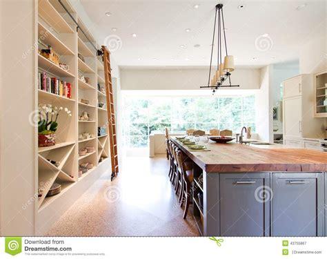 kitchen island seats 6 modern kitchen butcher block top island stock image