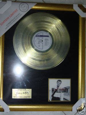 popsike disque d or johnny hallyday quot rock n roll attitude quot neuf auction details