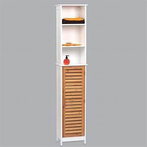 Colonne 30 Cm Largeur : meuble colonne salle de bain bakou bois bambou colonne ~ Premium-room.com Idées de Décoration
