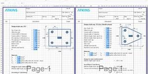 Sheet pile wall design xls : Pile cap design sheet excel