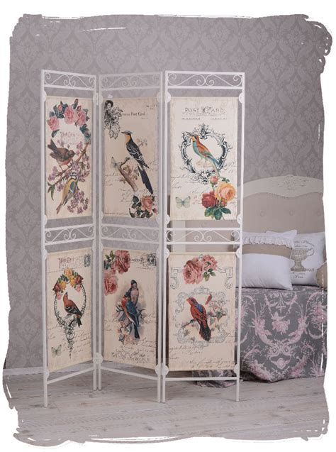 shabby chic room dividers vintage room divider postcards motive screen spanish wall shabby chic ebay