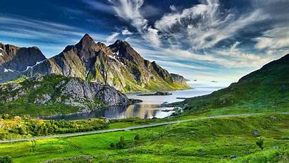 Psalm Mountains Landscape Warm Sea Wallpapers Valley