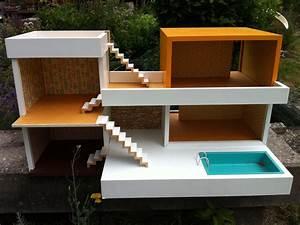 Barbiehaus Aus Holz : bungalow bodo hennig 60er jahre puppenhaus puppenstube ~ Watch28wear.com Haus und Dekorationen