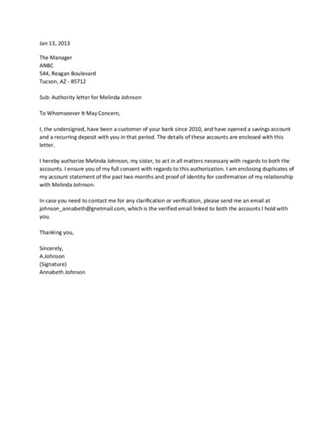 authorization letter template  legalformsorg
