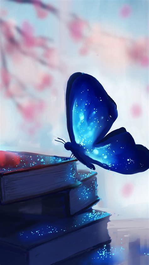 wallpaper butterfly books magic art art