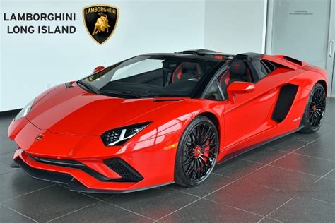 lamborghini aventador s roadster red 2018 lamborghini aventador s roadster lamborghini long island pre owned inventory